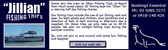 The Jillian Fishing & Boat Charter, Rye, Mornington Peninsula