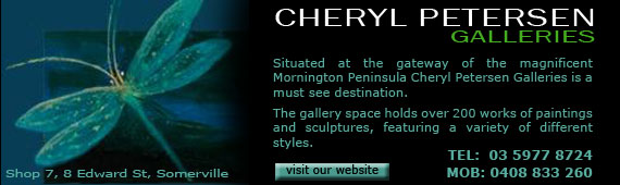 Cheryl Petersen Galleries at Somerville on the Mornington Peninsula